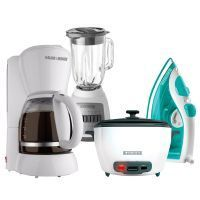 Combo Black and Decker / CBBD1720 / Arrocera + Licuadora + Cafetera + Plancha
